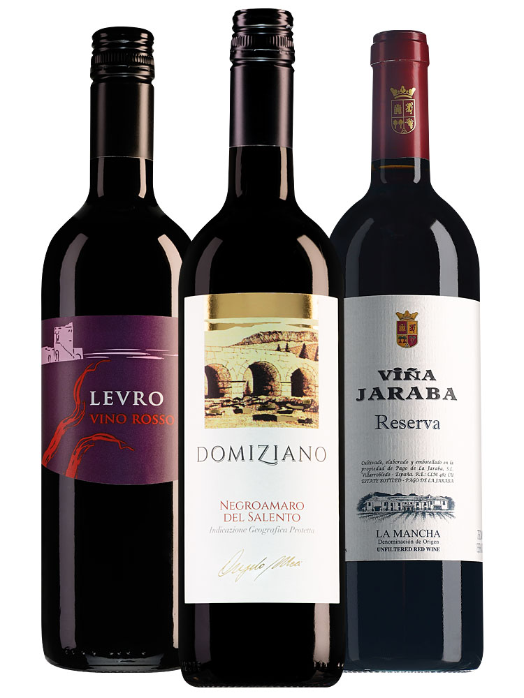 Wijnpakket top 3 rode wijnen