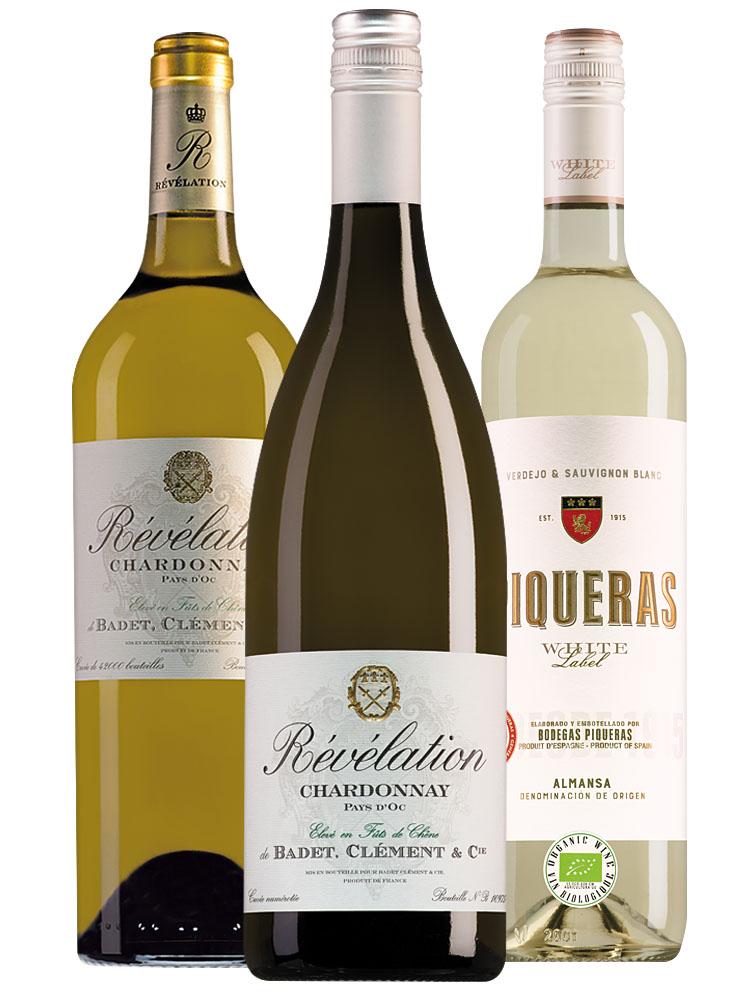 Wijnpakket top 3 witte wijnen