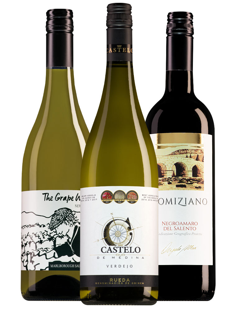 Wijnpakket top 3 wijnen