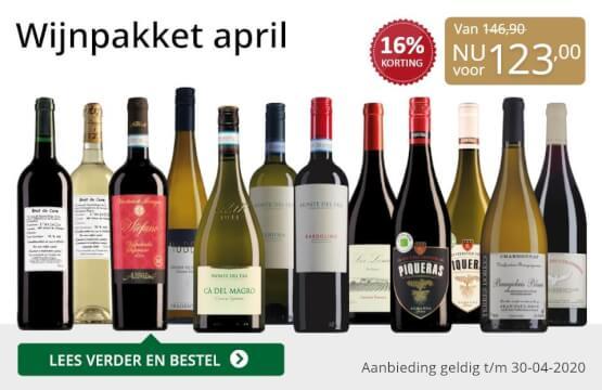 Wijnpakket wijnbericht april 2020(123,00)-goud/zwart